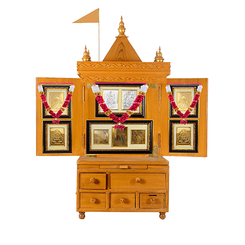 Buy Wooden Mandir Online Office Temple Online Pooja Ghar for Home